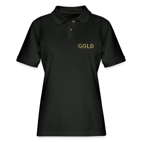 GOLD - Women's Pique Polo Shirt