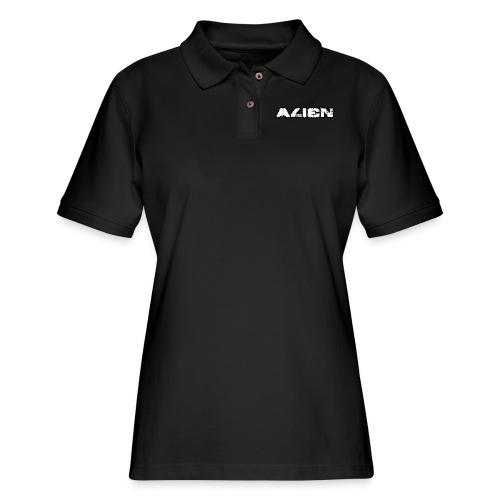 Alien White - Women's Pique Polo Shirt