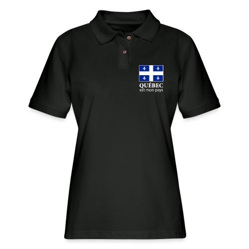 Québec est mon pays - Women's Pique Polo Shirt