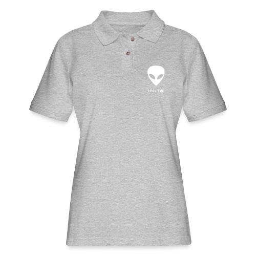 I BELIEVE ALIEN - Women's Pique Polo Shirt