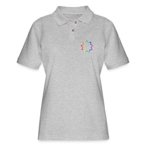 Baha´i rainbow - Women's Pique Polo Shirt