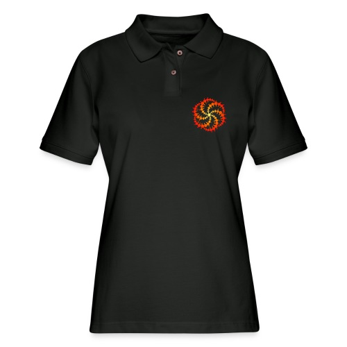 Crop circle - Women's Pique Polo Shirt