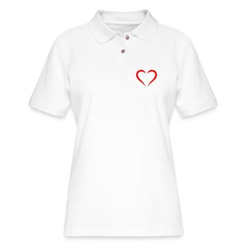 open heart - Women's Pique Polo Shirt