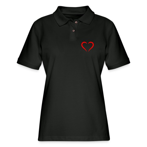 open heart - Women's Pique Polo Shirt