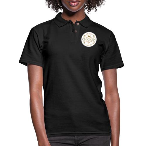 proud chicken mom - Women's Pique Polo Shirt