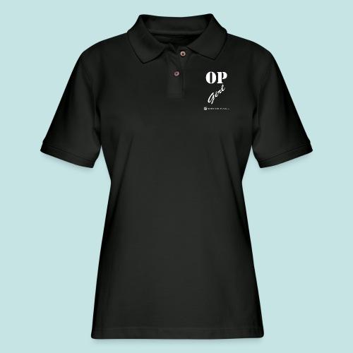 OP Girl (white) - Women's Pique Polo Shirt
