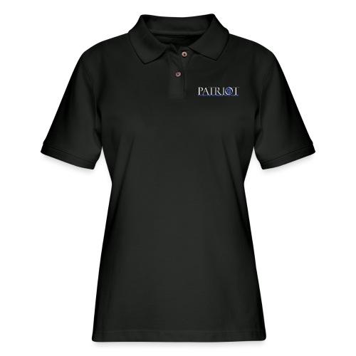 PATRIOT_USA_LOGO_2_reverse - Women's Pique Polo Shirt
