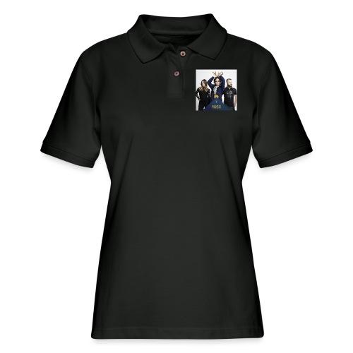 Mantis and the Prayer- Pyramid Design for kids - Women's Pique Polo Shirt