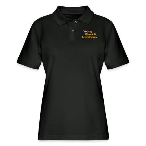 YBA Black and Gold Shirt2 - Women's Pique Polo Shirt
