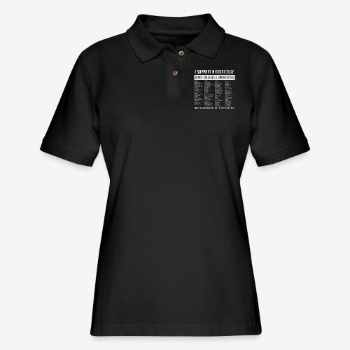 Support HBCUs List - Women's Pique Polo Shirt