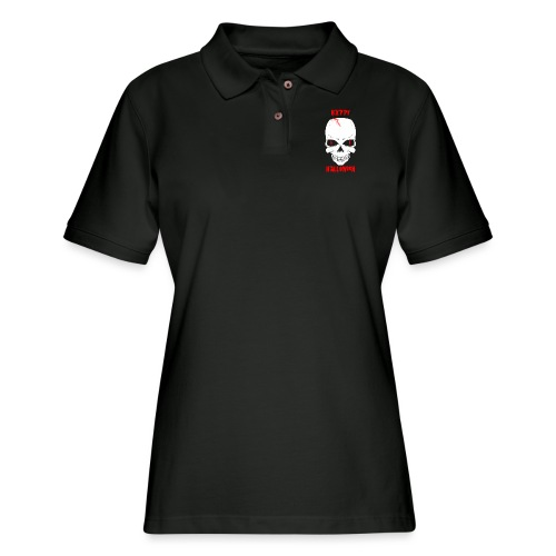 Halloween Skull - Women's Pique Polo Shirt