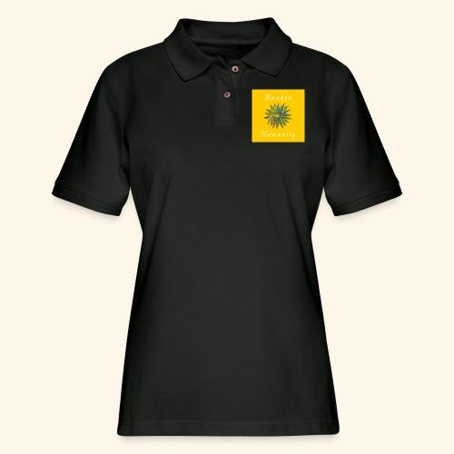 Awaken Humanity Brand - Women's Pique Polo Shirt
