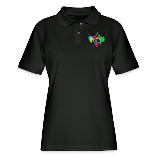 PAINT SPLASH - Women's Pique Polo Shirt