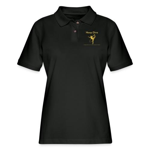 Hoop Diva 2 - Women's Pique Polo Shirt