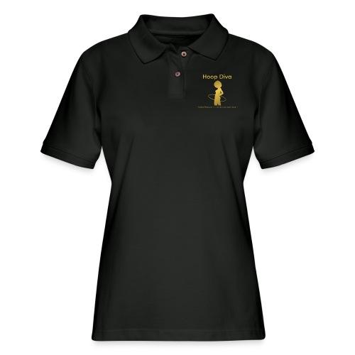 Hoop Diva - Gold - Women's Pique Polo Shirt