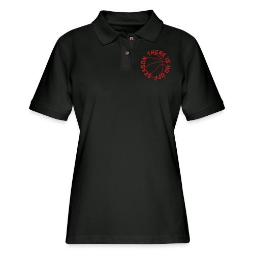 Basketball No Off Season - Women's Pique Polo Shirt