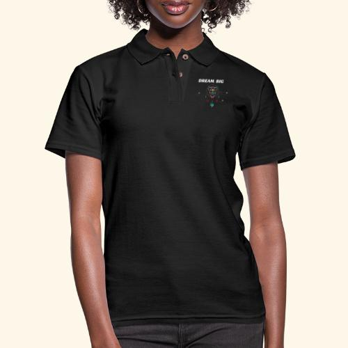DREAM BIG OWL - Women's Pique Polo Shirt