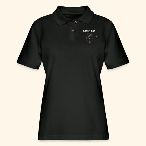 DREAM BIG OWL - Women's Pique Polo Shirt