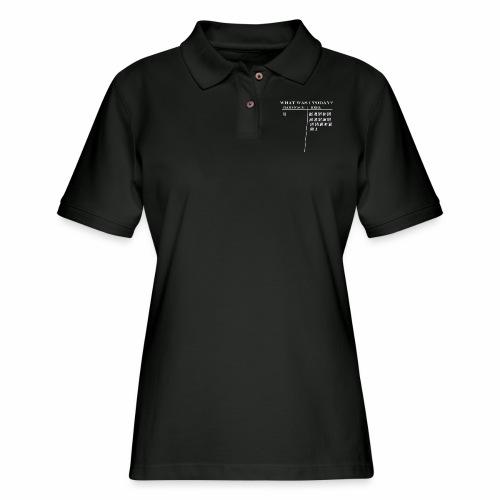 HEEL OR FACE - Women's Pique Polo Shirt