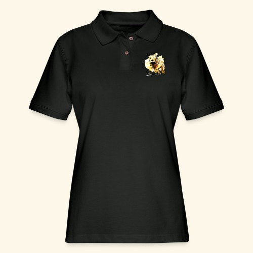 oil dog - Women's Pique Polo Shirt