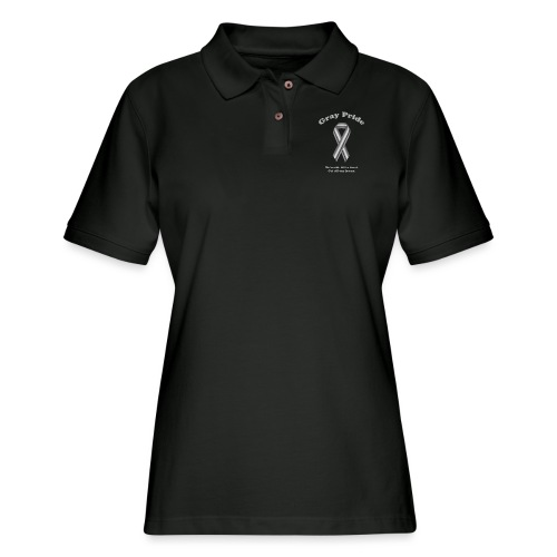 Gray Pride - Women's Pique Polo Shirt