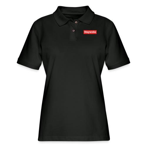 Stay woke - Women's Pique Polo Shirt