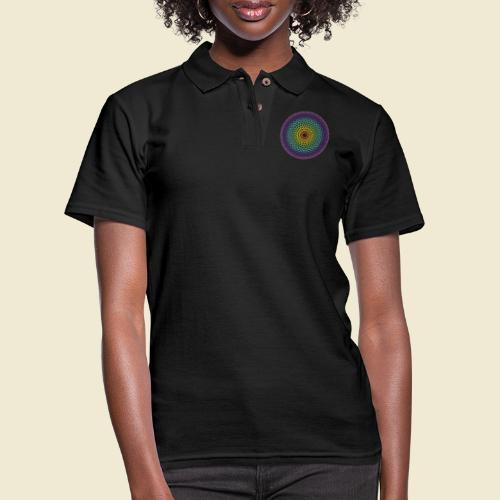 Torus Yantra Hypnotic Eye rainbow - Women's Pique Polo Shirt