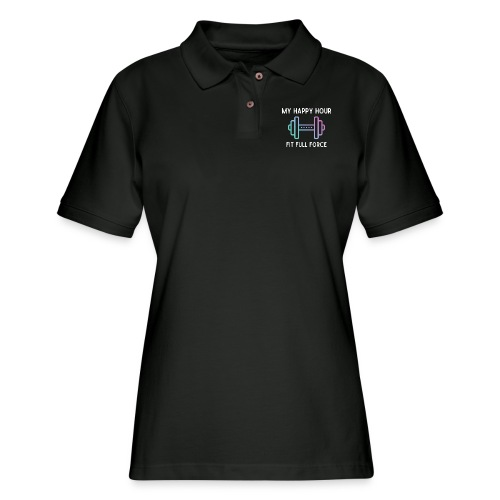 MY HAPPY HOUR - Women's Pique Polo Shirt