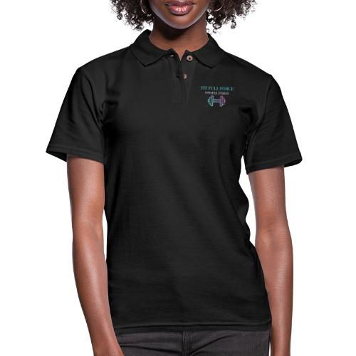 FIT FULL FORCE FITNESS STUDIO - Women's Pique Polo Shirt