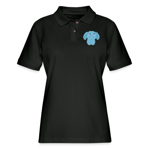 Baby Elephant Happy and Smiling - Women's Pique Polo Shirt