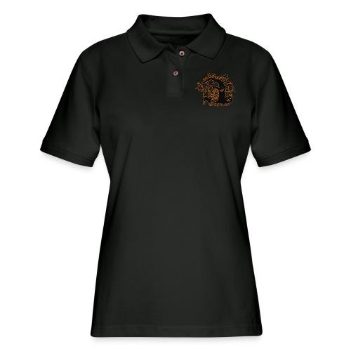 Halloween tree - Women's Pique Polo Shirt