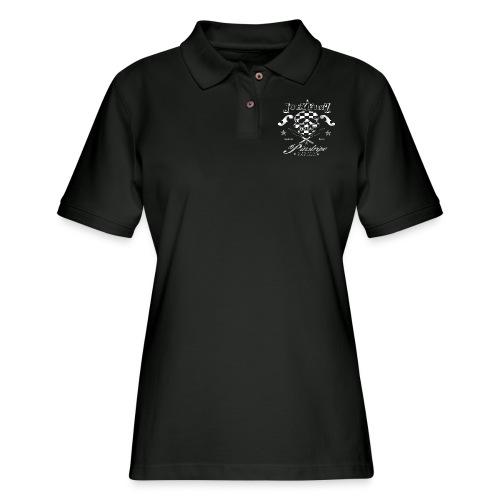 Pinstripe Parlor - Women's Pique Polo Shirt
