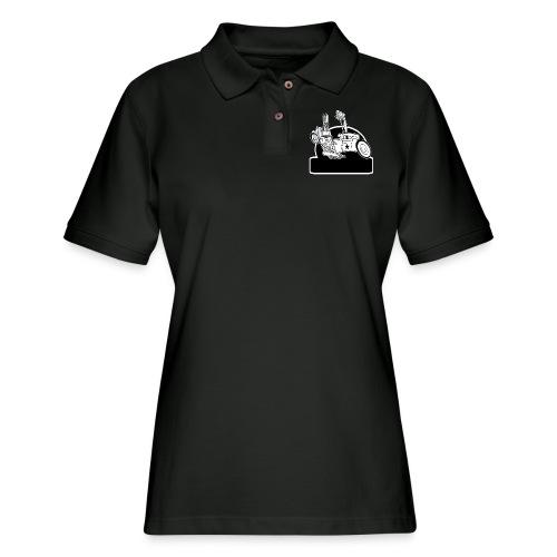 Personalized Rat Rod - Women's Pique Polo Shirt