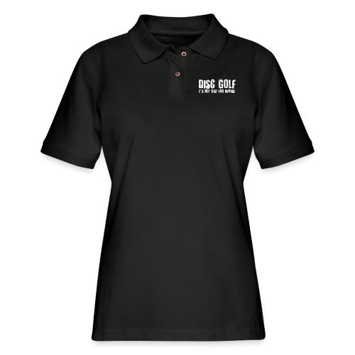 Disc Golf Not Just for Hippies Light - Women's Pique Polo Shirt
