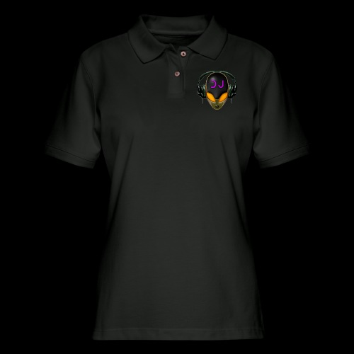 Alien DJ - Orange - Hard Shell Bug - Women's Pique Polo Shirt