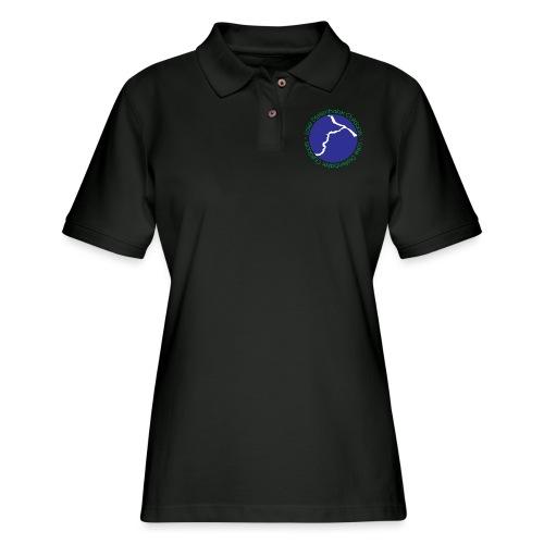 LDO WHITE LOGO - Women's Pique Polo Shirt