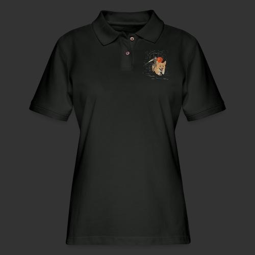 A Corgi Knight charges into battle - Women's Pique Polo Shirt