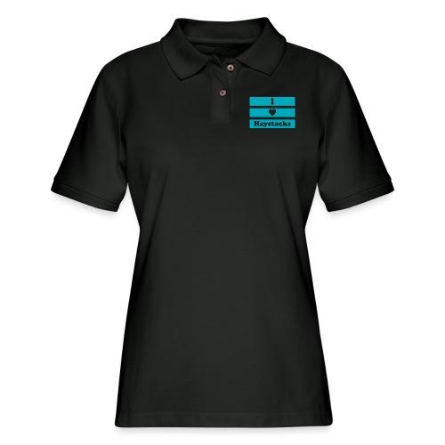 Haystacks Blue - Women's Pique Polo Shirt