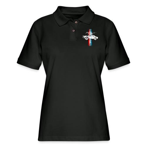 auto_mustang_69_stripes_01 AUTONAUT.com - Women's Pique Polo Shirt