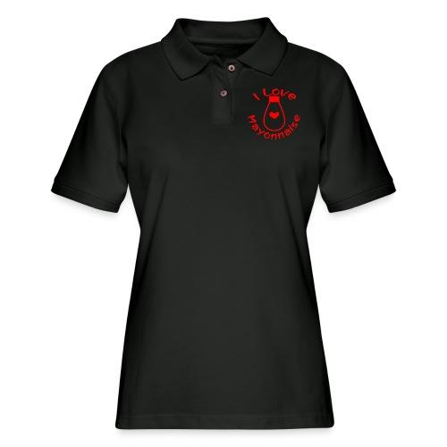 I Love Mayonnaise - Women's Pique Polo Shirt