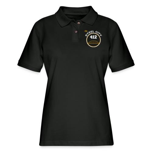 Steel City Long Sleeve Shirts - Women's Pique Polo Shirt