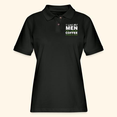 Funny Coffee T Shirts for Men, Women, Kids, Babies - Women's Pique Polo Shirt