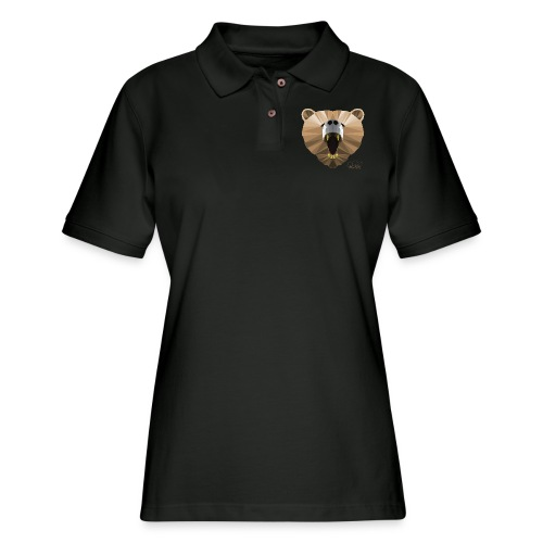 Hungry Bear Women's V-Neck T-Shirt - Women's Pique Polo Shirt