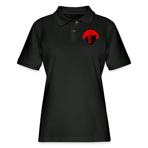 Ghost of Tsushima Half Sun Mask T Shirt - Women's Pique Polo Shirt