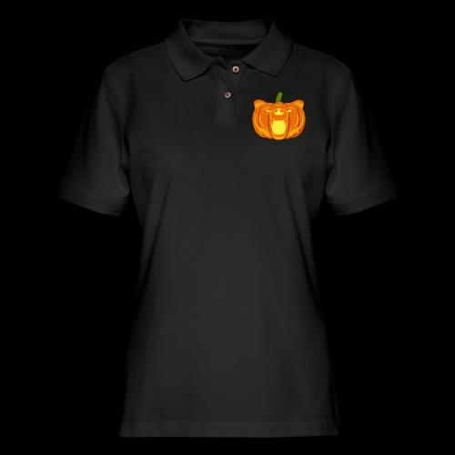 Pumpkin Bear - Women's Pique Polo Shirt