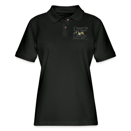 I Really Like your Planet - Women's Pique Polo Shirt