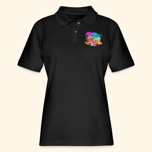 All of me loves all of you - Women's Pique Polo Shirt