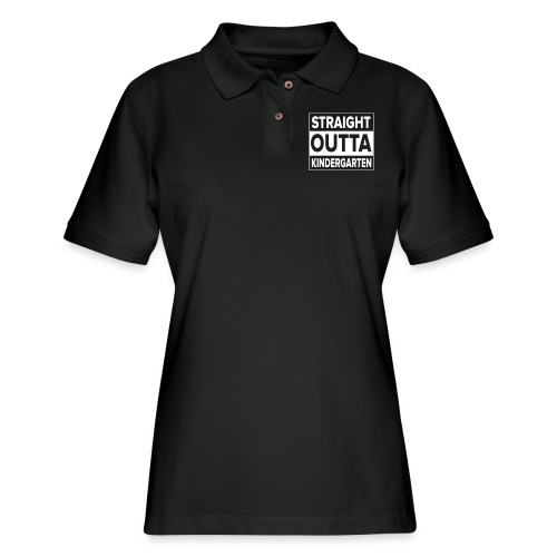Kreative In Kinder Straight Outta - Women's Pique Polo Shirt