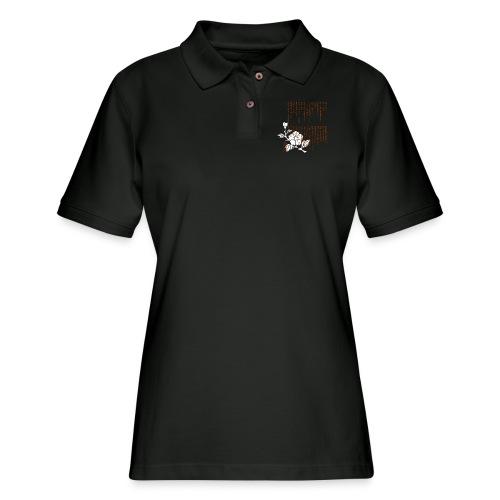 Ame ni Makezu Long Sleeve Shirts - Women's Pique Polo Shirt