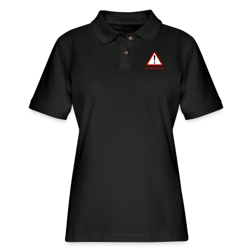 Warning I m Very Smart - Women's Pique Polo Shirt